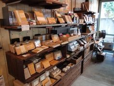 zakka/stationary shop in Tokyo. Vintage Stationary, Stationary Shop, Stationery Store, Gift Shop Displays, Store Displays, Shop Interiors, Office Interiors, Shop Interior Design, Store Design