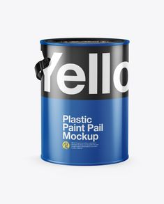 Plastic Bucket Mockup - Half Side View in Bucket & Pail Mockups on Yellow Images Object Mockups Paint Plastic, Mobile Mockup, Plastic Buckets, Billboard Signs, Book Stationery, How To Make Logo, Mockup Templates, Side View, Apple Watch