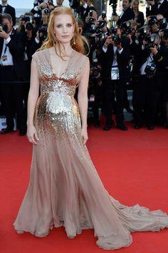 Jessica Chastain in Gucci Première | 2012 Cannes Film Festival