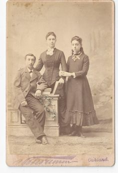 Wooton Siblings Photograph taken about 1880. The family must have lived in Alameda California according to the writing on the back of the photograph.