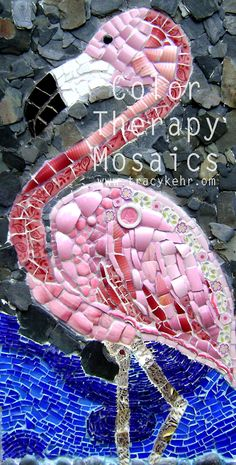 flamingo recycled mosaics