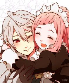 Cute Anime Couple. #Sheikh4Waqar