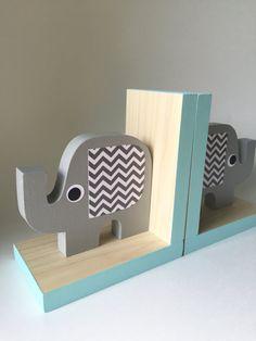 Elephant Bookends Elephant Nursery Elephant Kids by MapleShadeKids