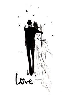 Love.  #IzakZenou #wedding #love #bride #bridal #fashion #illustration #TrafficNYC