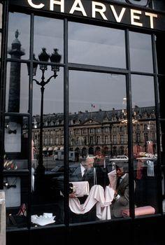 mimbeau:  Charvet shirtmaker Place Vendôme Paris 1978 Burt Glinn