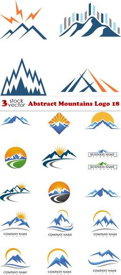Vectors - Abstract Mountains Logo 18
