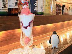 札幌のパーラー&バー「ペンギン堂」。ソフトクリーム、アイス、パフェとお酒。