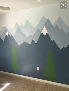 Mountain mural kids room