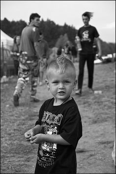 """Little punk girl by pa3zuk, via Flickr."" Cute, but I'm not 100% sure it's a girl!"