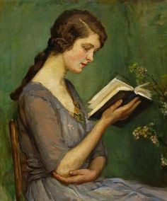 Molly Reading (c. 1920). Rose Mead (British,1867-1946). Oil on canvas.