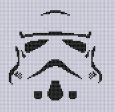 Stormtrooper Cross ... by bracefacepatterns | Embroidery Pattern - Looking for your next project? You're going to love Stormtrooper Cross Stitch Pattern  by designer bracefacepatterns. - via @Craftsy