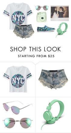 """""""Casual Floral"""" by em-styles-16 ❤ liked on Polyvore featuring Aéropostale, One Teaspoon, Polaroid Eyewear, Urbanears, Vans, women's clothing, women, female, woman and misses"""