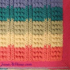 Crochet Bath Mat Patterns and Other Free Bathroom Patterns: Rainbow Crochet Bath Mat Free Pattern