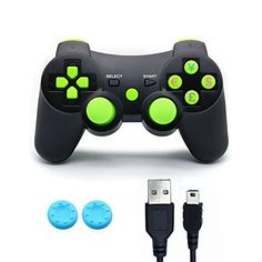 DainSlef Bluetooth Six Axis Dualshock Game Controller for PlayStation 3 - Green