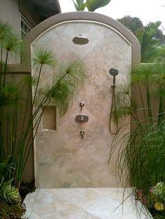 Image result for mediterranean outdoor shower