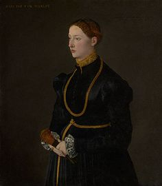AD 1544 oil Portrait of Barbara Kressin, 17 yrs. old (43 x 37 in.) - Getty Museum 70.PA.54