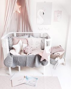 Beautiful styling! Numero74 powder canopy, star lanterns, cushions