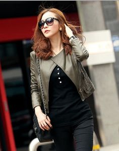 Chic Diagonal Zipper Up Women Jacket Coat on BuyTrends.com, only price $57.80