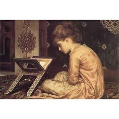 Buyenlarge 'At A Reading Desk' by Lord Frederick Leighton Painting Print Size: 2