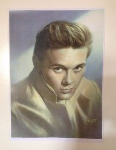 Billy Fury Painting Print By Tony Pitt British Rock n Roll Decca very Rare