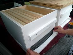 Taping up our hive bodies so the bees stay put during the drive home. - Help #honeybees survive, keep a hive yourself