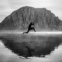 Where the surf meets the stone. Morro Rock, CA. Photo by our pal John Barton. #surfandstone