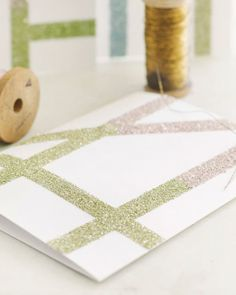 Glitter Notecard DIY Sweet Paul | Apartment Therapy Tons of crafting ideas!!!!!