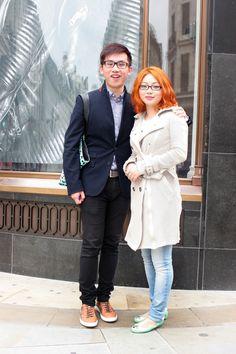 Kristan Wong and Teppei Shi wearing @Burberry #RegentStreetStyle