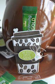 Stampin' Up!; SU, Kreativ-mit-Liebe!, Produktpaket 'Kaffee Ole!', Framelits Formen Kaffeebecher, Kaffeeverpackung, Gästegoodies, Goodies, kleine Verpackungen, Coffee-to-go Becher,