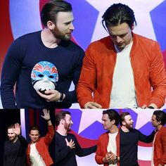 Chris Evans and Sebastian Stan are the real life Steve Rogers and Bucky Barnes.