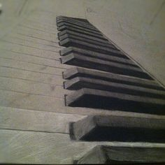 piano drawing I did in charcoal :) *unfinished version