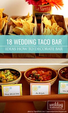 How To Decorate Wedding Taco Bar ❤ Taco bar is something unusual and fun. So…