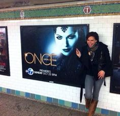 No one is more excited to see a poster of Lana Parrilla than Lana Parrilla