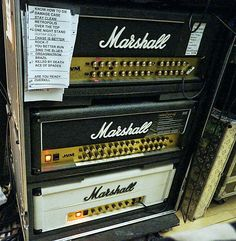 Phil Campbell of Motörhead's amp rack. Photo by Paul Marshall.