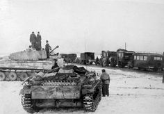 Tiger and StuG III in 1944 on the Eastern Front. | Panzertruppen | Flickr