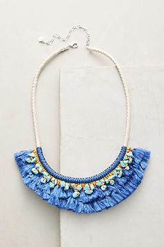Anthropologie Acalia Fringed Collar Necklace