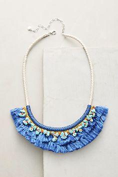 Anthropologie Acalia Fringed Collar Necklace