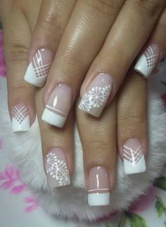 French Nail Designs, Nail Polish Designs, Nail Art Designs, Lace Nails, Sparkle Nails, Elegant Bridal Nails, Gel Nails, Manicure, Spring Nail Trends