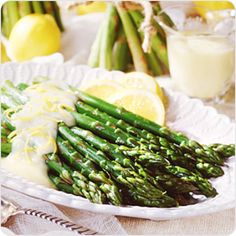 Asparagus with Mock Hollandaise Sauce | Better For You