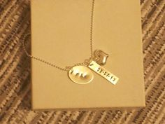 Thankyou for the Thoughtfelt Gift for Bride to Be 3 peice Necklace; 1.wedding date 2.initals of bride/groom 3. Heart gem. EBay.ca