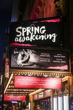 Photo of Don't miss Spring Awakening at the Brooks Atkinson Theatre! Musical Theatre Broadway, Broadway Shows, Spring Awakening Broadway, Michael Arden, Spiritual Awakening Stages, Duncan Sheik, Spring Nail Colors, Spring Breakers, Opening Night