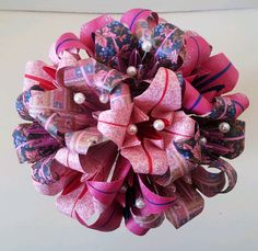 Rainbow Bright Colourful Origami Bouquet Alternative Paper Flowers