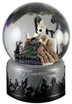 Amazon.com: Tim Burtons Nightmare Before Christmas Pajama Jack Skellington Waterball Snow Globe: Home & Kitchen