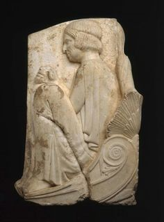 Three-sided marble relief. Right side. Greek. Classical Period, c. 450–440 B.C. | Museum of Fine Arts, Boston