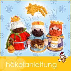 Weihnachtskrippe - Hlg. 3 Könige - Häkelanleitung