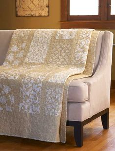 Fresh Vanilla Stylish neutral fabrics set a classy tone for this quilt made from only stripes and rectangles.