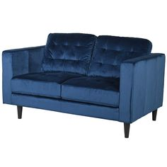 Our lowest price luxury velvet sofa in Indigo Blue velvet with ebonised legs. Stylish and modern sofa that oozes style. With luxurious deep filled cushions and sleek lines this sofa will suit any home. Also available in Grey velvet. Types Of Furniture, Furniture Styles, What Is Art Deco, Art Deco Chair, Art Nouveau Furniture, Velvet Sofa, Modern Spaces, Modern Materials, Modern Sofa