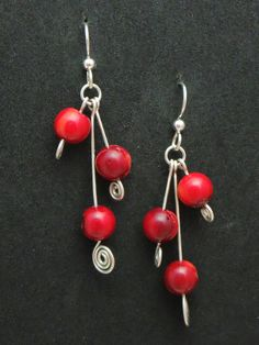 Sterling Silver & Red Coral.