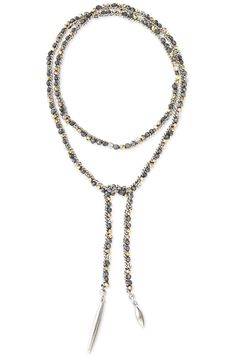 Mixed Metal Hand Woven Lariat Necklace   Zoe Lariat Necklace   Stella & Dot