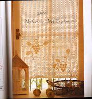 cortinas tejidas a crochet con uvas - Buscar con Google